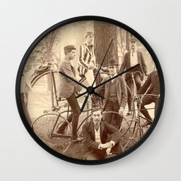 1880 Brown University High Wheel Bicycle Club, East Side, Providence, Rhode Island Wall Clock