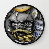samurai Wall Clocks featuring Samurai by rchaem