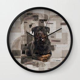 Rottweiler  - Metzgerhund Digital Art Wall Clock