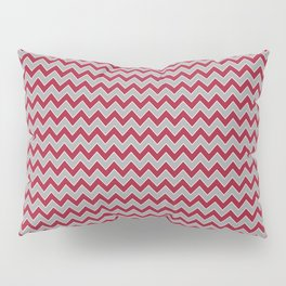University of Alabama colors chevron zig zag minimal pattern college football sports Pillow Sham