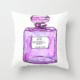 perfume purple Throw Pillow