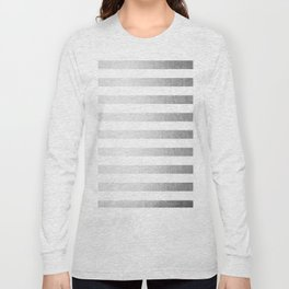 Simply Striped Moonlight Silver Long Sleeve T-shirt