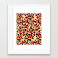 frida Framed Art Prints featuring Frida by Bouffants and Broken Hearts