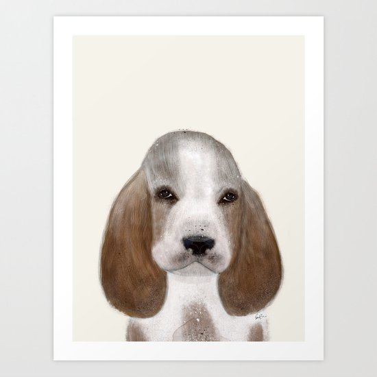 little basset hound Art Print