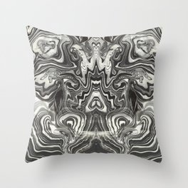 Marble Grasshopper Throw Pillow