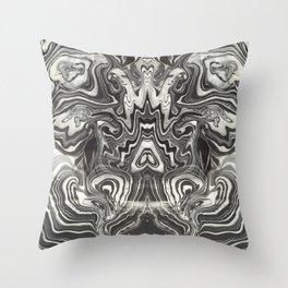 Marble Grasshopper Throw Pillow