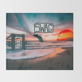Swag Whale Throw Blanket