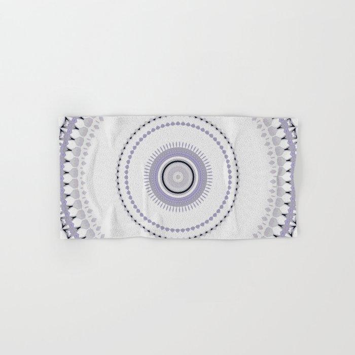 White and light Purple simple Mandala Design Hand & Bath Towel by  artaddiction45