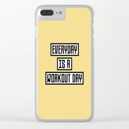 Workout Day fitness T-Shirt for all Ages Dx41w Clear iPhone Case
