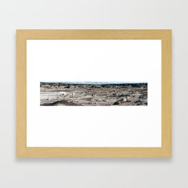 Badlands Panorama Framed Art Print