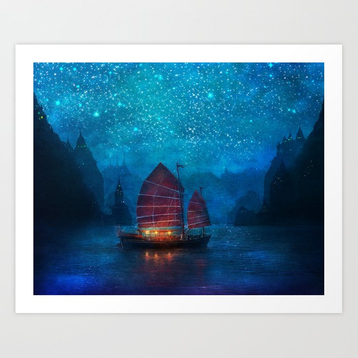 Our Secret Harbor Art Print