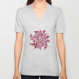 Floral Abstract 26 Unisex V-Neck