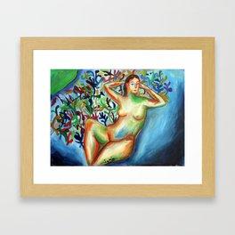 Sario painter, Danae Framed Art Print