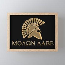Molon lave-Spartan Warrior Framed Mini Art Print