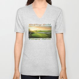 Golfing at the 'Gong Unisex V-Neck