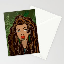 MAIA green bg Stationery Cards