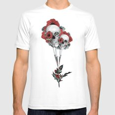 Evolution of poppies.  White Mens Fitted Tee MEDIUM