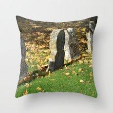 Autumnal Gravestones Throw Pillow
