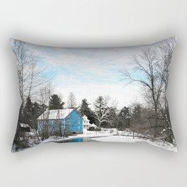 Walnford Mill Winter Upper Freehold, New Jersey Rectangular Pillow