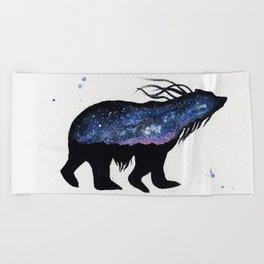 Milky Way Bear Beach Towel
