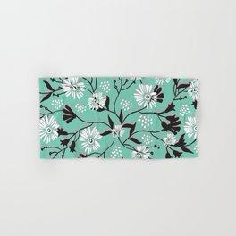 Mint Floral Shadow Hand & Bath Towel