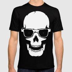 Skull in shades MEDIUM Mens Fitted Tee Black