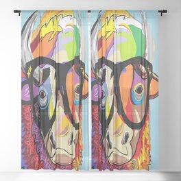 "Hipster Bison ""Buffalo"" Sheer Curtain"