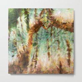 Jungle Abstract Metal Print