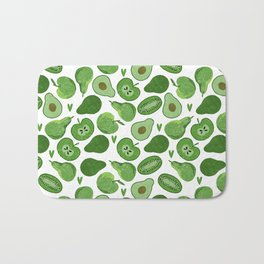 Green fruits and vegetables Bath Mat