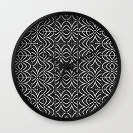 Black and White Tribal Print Wall Clock
