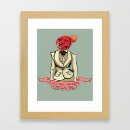 Monster Lady Advice Framed Art Print