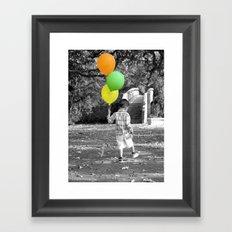 3 Balloons for 3 Years Framed Art Print