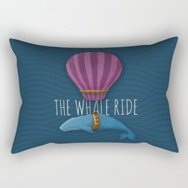 The Whale Balloon Ride Rectangular Pillow