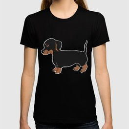 Black and Brown Dachshund Art T-shirt
