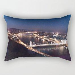 NIGHT TIME IN BUDAPEST Rectangular Pillow