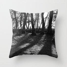 Railway Trees Throw Pillow