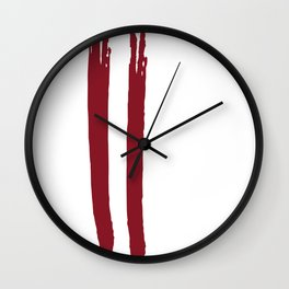 latvia Stripe Country Colors Wall Clock