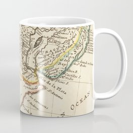 Vintage Map of Chile and Argentina (1732) Coffee Mug