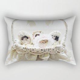Pretty Girls in a Basket Rectangular Pillow