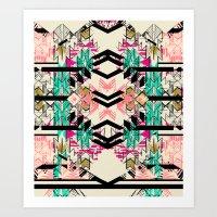 austin Art Prints featuring Austin by Pattern State