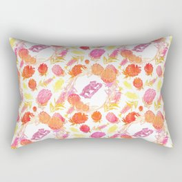Beautiful Australiana Floral Pattern - Native Australian Flowers and Koalas Rectangular Pillow