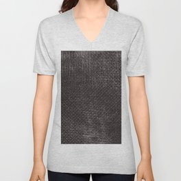 Abstract vintage gray brown black geometrical pattern Unisex V-Neck