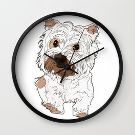 Lolo, West Highland Terrier Wall Clock