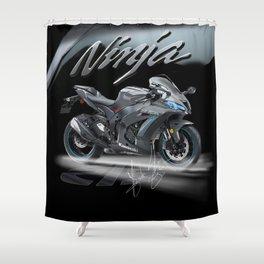 Kawasaki Paradox Double Time 2 Shower Curtain