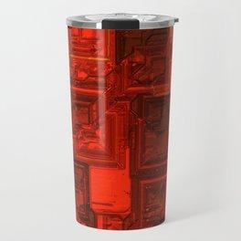 Luxury glowing red cubes Travel Mug