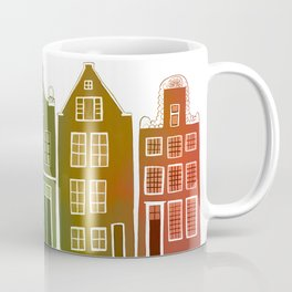 Sweet Amsterdam Canal Houses Row Dutch Rainbow Coffee Mug