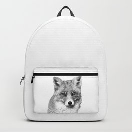 Black and White Fox Backpack