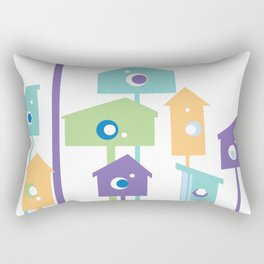 Birdhouse Rectangular Pillow