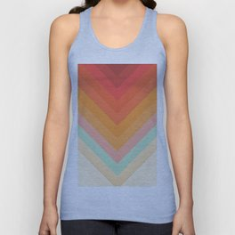 Rainbow Chevrons Unisex Tank Top