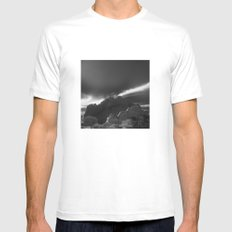 Kissing Camels B&W Mens Fitted Tee MEDIUM White